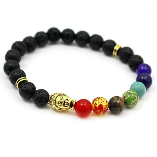 Chakra Armband Heilung Balance Perlen Reiki Buddha Gebet Naturstein Unisex