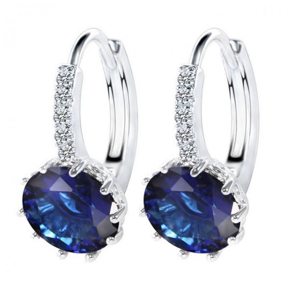 Runde Luxus Ohrstecker Ohrringe für Frauen mit Zirkonia