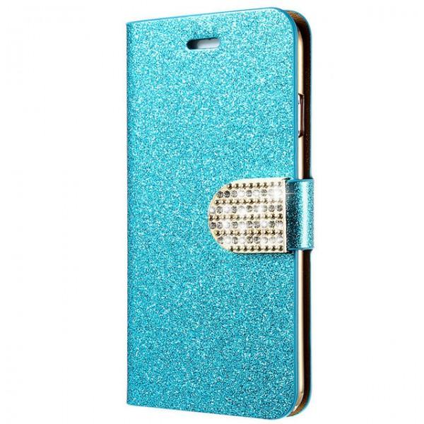 Luxus Bling Flip Case für iPhone 7 7 Plus 6 6s 6Plus 6SPlus Glitter Frau Mädchen Leder